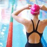 girl ready to swim laps